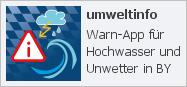 Externer Link: App umweltinfo